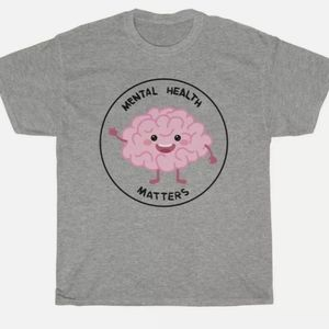 Unisex Small Mental Health Matters Tee Brain cute